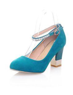 X&D Damenschuhe - High Heels - Outddor / Büro / Lässig - Kunst-Veloursleder - Blockabsatz - Absätze / Komfort / Geschlossene Zehe -Schwarz / - http://on-line-kaufen.de/tba/x-d-damenschuhe-high-heels-outddor-buero-laessig-4