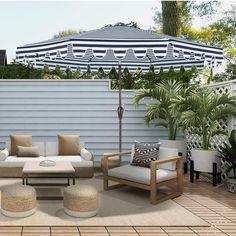 Backyard Garden Design, Backyard Patio, Garden Pool, Pool Umbrellas, Outdoor Patio Umbrellas, Outdoor Umbrella, Market Umbrella, Outdoor Furniture Sets, Outdoor Decor