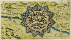 An old map of Nicosia with Venitian walls / Старинная карта Никосии #Cyprus #Nicosia