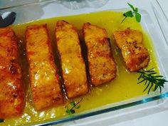 Imagem da receita Salmão grelhado com molho de maracujá