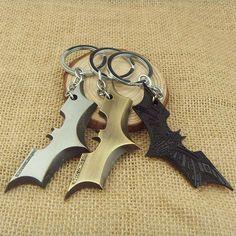 Bat Man Movie Theme Metal Keychains Batman Movie jewelr Key Chains comic figure pendant accessories Key Ring