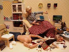 Barbie goes mad