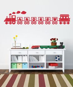 Loving this Red Ride the Name Train Personalized Decal Set on #zulily! #zulilyfinds