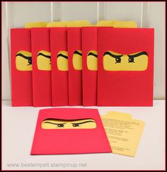 Invitations Card, Birthday, Ninjago, Party, Einladungskarten, Lego