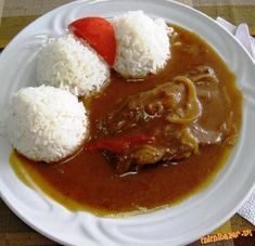Pikantní roštěná Thai Red Curry, Ethnic Recipes, Bude, Food, Red Peppers, Essen, Yemek, Eten, Meals