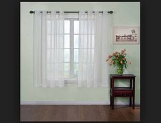 Arm and Hammer Curtain Fresh Odor Neutralizing Sheer Curtain Panel, 120 Inches, Ivory (Single panel): Curtain Fresh Odor- Neutralizing Sheer Voile Grommet Curtain Panel, 59 by Ivory Sheer Curtain Panels, Grommet Curtains, Drapes Curtains, Valances, Window Sheers, Arm And Hammer Odor, Country Farmhouse Decor, White Paneling, Space Furniture