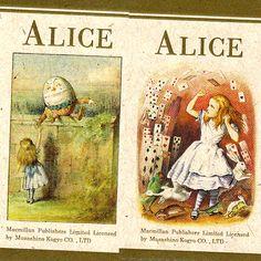 THE MACMILLAN ALICEヒモ付きメッセージカード 4種類各2枚入り8枚 縦8cm×横4cm