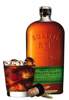 Bulleit Rye is a new offering from the fine folks behind Bulleit Bourbon. The bourbon already boasts a relatively high rye content, but the new Bullet Rye Whiskey is composed of rye grains, a much higher concentration than the. Good Whiskey, Cigars And Whiskey, Scotch Whiskey, Bourbon Whiskey, Whiskey Bottle, Bulleit Bourbon, Whiskey Cake, Bourbon Cocktails, Whiskey Drinks