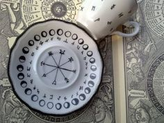 Gorgeous moon phase tea cup and saucer