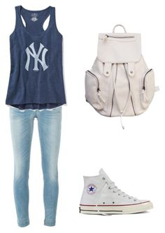 """#27"" by beth-angus ❤ liked on Polyvore featuring Dolce&Gabbana, Old Navy and Converse"