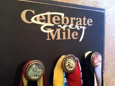 Running Medal Holder - Half Marathon - Marathon Running Medal Display - Celebrate every mile - black on Etsy, $34.99