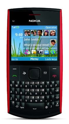 Nokia X2-01 Unlocked GSM Phone-U.S. Version with Warranty (Red) VGA camera/camcorder; Bluetooth stereo music; 2.4-inch LCD display; microSD memory expansion; EDGE data network; access to personal e-mail. Unlocked quad-band GSM cell phone compatible with 850/900/1800/1900 frequencies plus GPRS/EDGE capabilities. Messaging phone with full QWERTY keyboard and 1-click access to popular social networki... #Nokia #Wireless
