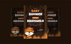 Rawr Tiger Baby Shower Invitation Corporate Identity, Baby Shower Invitations, Print Templates, Company Logo, Bottle, Card Templates Printable, Flask, Shower Invitation, Branding