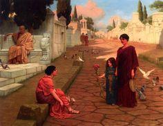 The Athenaeum - Outside the Gate of Pompeii (John William Godward - )