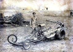 VINTAGE DRAG RACING - Wreck and dazed driver