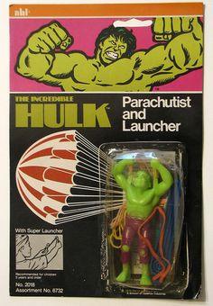 Incredible Hulk Parachutist Launcher Vintage Marvel 1976 Ahi   eBay