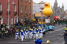 Buí Bolg Outdoor Arts At The St. Patrick's Parade In Dublin Image by infomatique Buí Bolg Outdoor Arts At The St. Patrick's Parade In Dublin Life can be hectic, but occasional… St Patrick Parade, Duck Float, Jazz Festival, Community Events, 40th Anniversary, Outdoor Art, The St, The Ordinary, Dublin