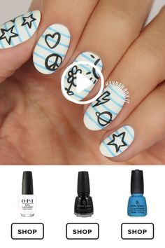 How to Get a Too Cool for School Nail Manicure nageldesign Toe Nail Art, Nail Art Diy, Easy Nail Art, Nail Manicure, Diy Nails, Nail Polish, Cute Simple Nails, School Nails, Nail Design Video