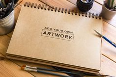 Free PSD • Sketchbook Mockup • Custom Scene