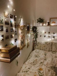 Created the cozy room of my dreams bedroom ideas Cozy Aesthetic Bedroom Cute Bedroom Ideas, Cute Room Decor, Room Ideas Bedroom, Bedroom Inspo, Lighting Ideas Bedroom, Ikea Bedroom, Room Lights Decor, Bedroom Inspiration Cozy, Bedroom Furniture