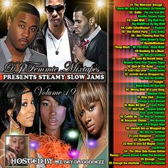 Another volume of the DJ Femmie Steamy Slow Jams Series loaded with great artists and great tracks. Check it out and leave a comment for the artists on it not DJ Femmie.TWEET, MZ. BEY DA GODDEZZ, -  Jason Derulo, Brianna Perry,  Jeremih, Teyana Taylor, Chris Brown, Ywada, Juelz Santana, Melamie Fiona, Travis Porter, Glenn Lewis, Tyga, Fat Joe, Wiz  Khalifa,   J. Peguero, Mel Buckley, L.E.P. Bogus Boys, Metal Roze (Of Red Dirt), Mr. 704, 8 Ball, Zoey Dollaz, August Alsina, Bigg Bad,  Big…