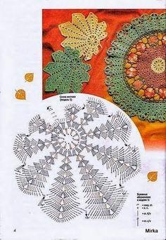 Listki - Urszula Niziołek - Picasa Web Album / a beautiful collection of autumn leaf patterns to crochet ...