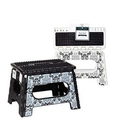 Delancy 9'' Folding Step Stool - Set Of Two