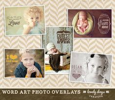 Photo Overlays Word Art for photographers by LovelyDaysCreative, $8.00