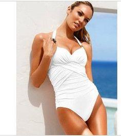 88fc7b79b0183 High Quality 2016 New Women Swimwear Sexy Halter One piece Swimsuit Bathing  Beach Suits Black White Red Green Purple Pink