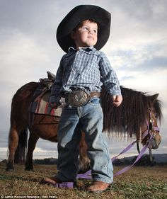 Plucky: Little Royce Gill, from New South Wales, Australia, is competing against riders seven times his age in the rough and tough sport of ...