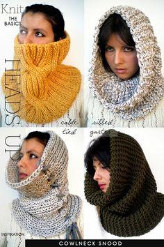 DiaryofaCreativeFanatic Loom Knitting, Knitting Patterns Free, Hooded Scarf, Cowl Scarf, Knit Cowl, Cowl Neck, Crochet Scarves, Crochet Hats, Knit Crochet