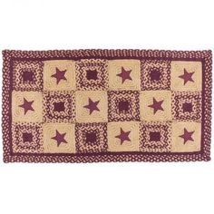 Wine Country Star 3'x5' Rectangle Braided Rug