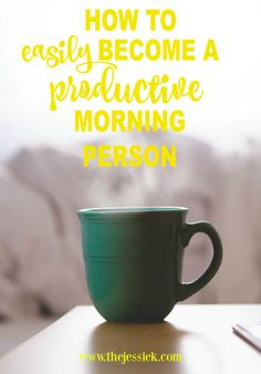 Tips on how to be more productive in the mornings to have a better and less stress day!