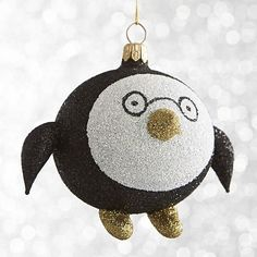 Penguin with glasses Ornament I Crate and Barrel