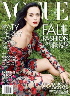 Katy Perry Lands First Vogue Cover wearing a Swarovski embellished Rodarte dress