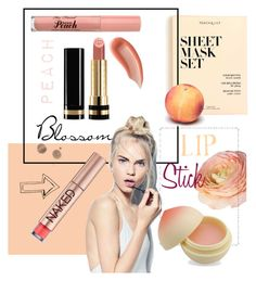 """""""-Peachy-"""" by arielalcantar on Polyvore featuring beauty, Surratt, Gucci, J.Crew, Too Faced Cosmetics, Sephora Collection, Urban Decay, TONYMOLY and peachlipstick"""