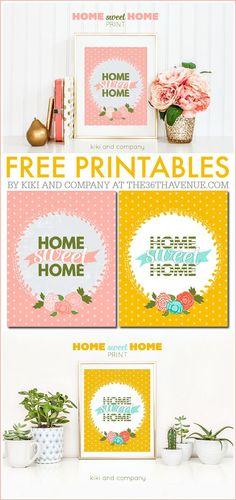 Free Printables - Home Sweet Home Print from Kiki and Company.