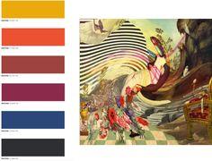 FASHION VIGNETTE: A/W 2017 PASTICHE, COLOUR - La paleta de colores de Pastiche trae a la mente un mercado de especias o el taller de un gran perfumista. Los tonos son brillantes y vibrantes: curry amarillo, borgoña inclinado hacia la cereza, la mandarina, y el intenso blues con toques de negro para definir las líneas. - El seguidor, sofisticado e ingenioso, revisa los grandes iconos del pasado con una nueva perspectiva. Chanel y Missoni son sin duda las marcas más representativas de este…