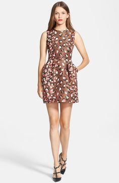 RED Valentino Leopard Print Faille Dress | Nordstrom