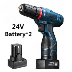 24V Power Tools Multifunction Rechargeable Lithium Battery*2 Torque Electric Drill bit cordless Electric Screwdriver