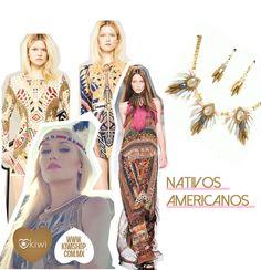 Collares inspirados en tendencias de nativos americanos.