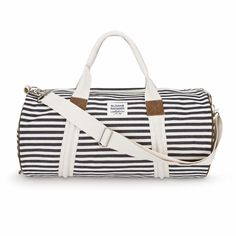 Denim Stripe Duffle Bag Cute For Summer The Beach Sleepovers Compeons