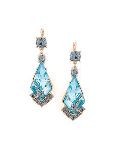 Krishna Aqua Earrings - Lovely geometric design