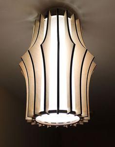 Laser Cut Lamp Shade Wood