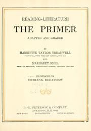 Reading--literature : the primer : Treadwell, Harriette Taylor : Free Download & Streaming : Internet Archive
