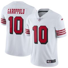 Jimmy Garoppolo San Francisco 49ers Nike Color Rush Vapor Untouchable  Limited Player Jersey – White. San Francisco BasketballNfl San Francisco Sports ... a955fa8ba