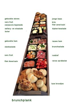 Brunchplank Plateau Charcuterie, Charcuterie And Cheese Board, Mezze, Snack Recipes, Cooking Recipes, Good Food, Yummy Food, Food Platters, Snacks Für Party