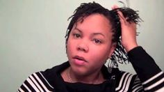 mini twists on short natural hair - YouTube
