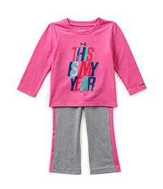 Under Armour 12-24 Months This Is My Year Tee & Pant Set