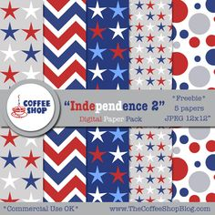 "The CoffeeShop Blog: CoffeeShop ""Independence 2"" Digital Paper Pack!"